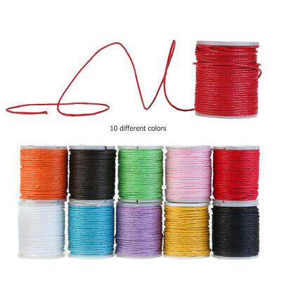 10 DIY Waxed Wire Roll Multi-colored Jewelry Thread Cord Beading Bracelet String