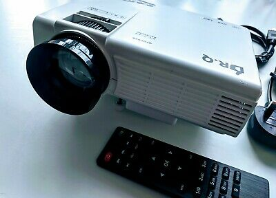 Dr Q Hi-04 HD LCD LED Projector HDMI Upgraded 3800 Lumens 170in 2019 UK Seller