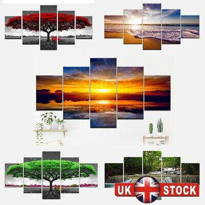 5 Panels Wall Printing Picture Canvas Art Home Decor Unframed Modern Landscape