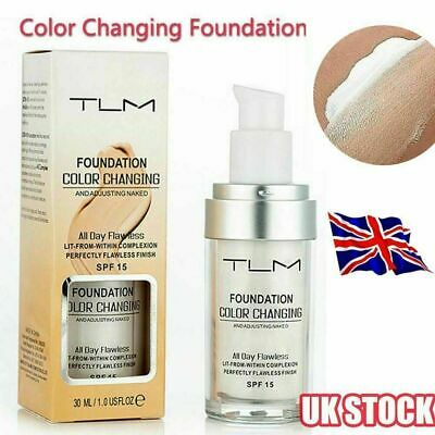 Magic Flawless Colour Color Changing Foundation TLM Makeup Change Skin Tone HJ