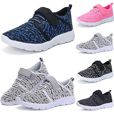 Kids Casual Sports Shoes Boys Girls Running Trainers Breathable Comfort Sneakers