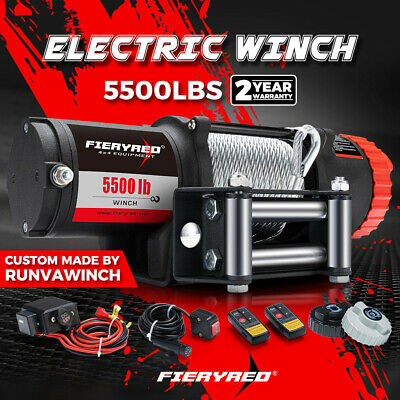 4500LBS/2041kg 12V Electric Winch Steel Cable Boat ATV 4WD Wireless Remote