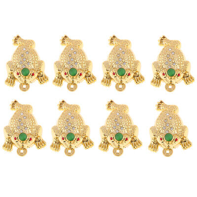6pcs Feng Shui Money LUCKY Fortune Wealth Oriental Chinese Toad  Home Decor