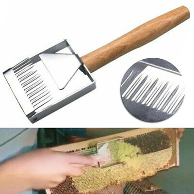 1x Stainless Steel Bee Hive Uncapping Honey Fork Scraper Shovel Beekeeping Tool
