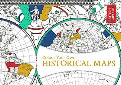 Colour Your Own Historical Maps by British Library Book The Fast Free Shipping