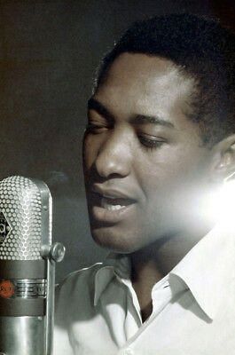 Sam Cooke 24X36 Poster Print By Microphone