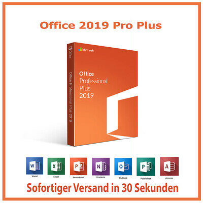 Microsoft Office 2019 Professional Plus Pro Lizenzschlüssel Deutsch Produkt Key