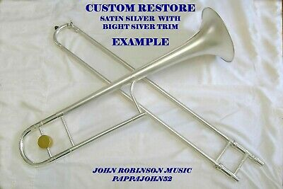 *HN White KING 2B Liberty trombone 1952 CUSTOM RESTORE Lacquer or Silver finish