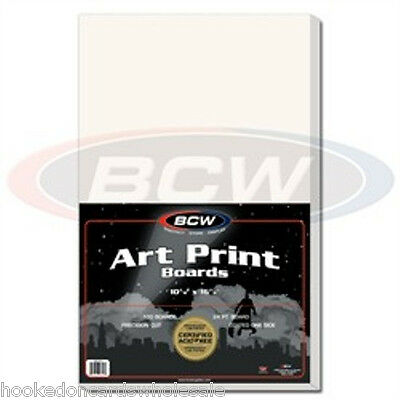 """1 pack of 100 BCW Brand Art Print 11 x 17"""" Photo Backing Backer Boards"""