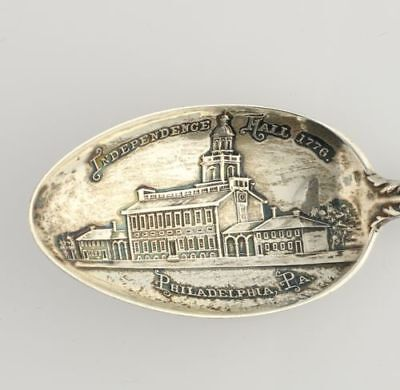 Pennsylvania Souvenir Spoon - Sterling Silver Philadelphia Independence Hall