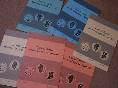 6 Early Copies Of The Central States Archaeological Journal 1954, 1956