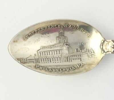 Philadelphia Souvenir Spoon - Sterling Silver Independence Hall Collector's