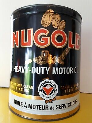 Vintage oil can  Nugold Motor Oil Can 1 Imperial Gallon CTC Canada