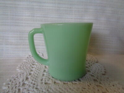 Vintage Fire King Jadeite D Handle Coffee Mugs Anchor Hocking