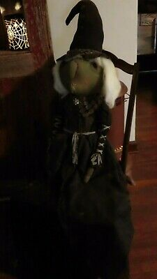 Large Primitive Halloween Witch Doll 36 Inches