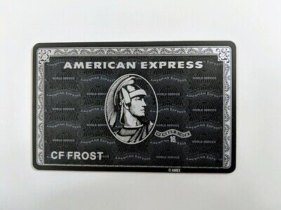 American Express Amex Centurion Black Card Example Card