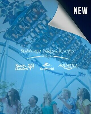 3 Days pass 3 parks seaworld, Aquatiqua and Busch gardens with all day dining
