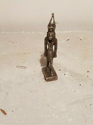 Rare Antique Ancient Egyptian Silver Statue God Sekhmet War Soldiers1830-1750BC