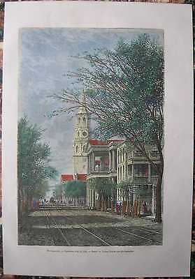1876 print ST. MICHAEL'S CHURCH, MEETING STREET, CHARLESTON, SOUTH CAROLINA #121