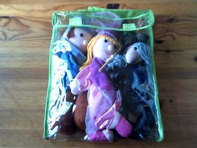Sleeping Beauty Puppet Set of 3 Puppets: Sleeping Beauty Prince Charming & Witch
