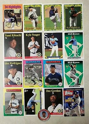 2019 Topps Archives MARINERS MASTER Team Set - 16 Cards + Coin w/ SP + Inserts