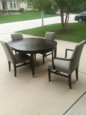 Ebony Wood Dining Set [Crate & Barrel], Model Baby Grand, Excellent Condition