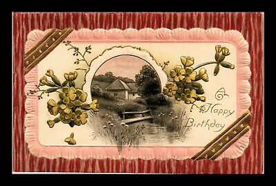 Dr Jim Stamps Us Happy Birthday Embossed Country Cottage Greetings Postcard