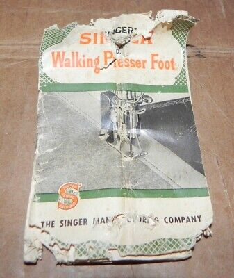 SINGER WALKING PRESSER FOOT * MANUAL ONLY * POOR CONDITION 160741 Penguin