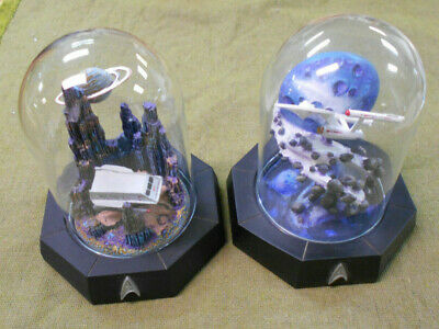 #Aa.  1994  Star Trek  Glass Domes - Galileo Shuttlecraft & U.s.s Enterprise