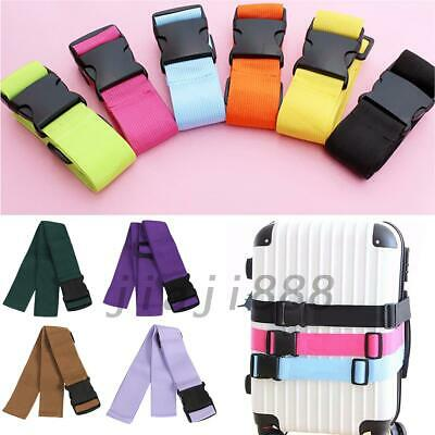2PCS Adjustable Suitcase Luggage Straps Travel Buckle Baggage Tie Down Belt Lock