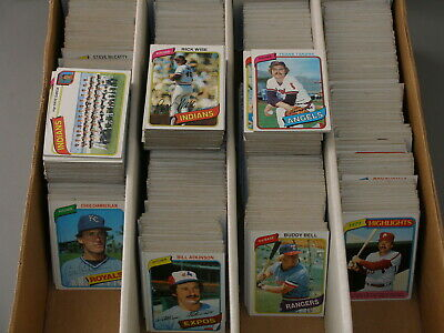 Huge (2300+) 1980 Topps Baseball Bulk card Lot - 35 years old mostly VG to EX-MT