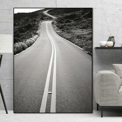 Mountain Road Canvas Wall Poster Nordic Living Room Home Decoration Art Painting