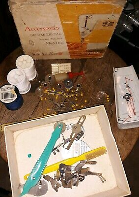 Vintage Singer Sewing Machine Parts Accessories & Box Not Sure of Compatibility