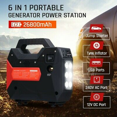 DASHOTO 26800mAh Portable Generator Battery Charging Power Station Tyre Inflator