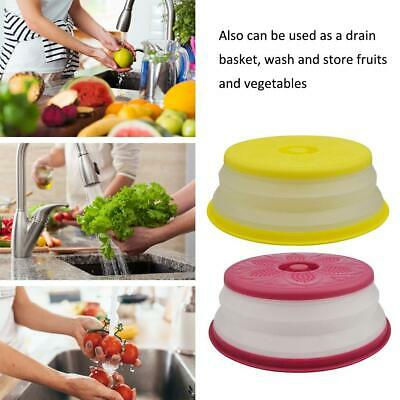 Plastic Microwave Plate Covers Foldable Splash-proof Food Microwave Cover Breath