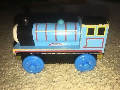 "Thomas The Tank Wooden 3"" Train Engine ""Edward"" And Pez Dispensor"