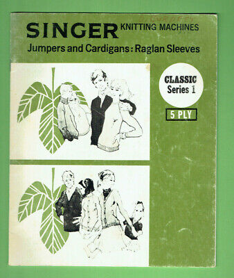 #T313.  C. 1970s  SINGER SEWING MACHINE INSTRUCTION BOOKLET - JUMPERS & CARDIGAN
