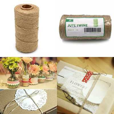 328 Ft C.100 Meters Natural Jute Twine String Rolls 2 Ply Burlap T 1Mm/100M 2Ply