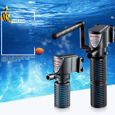 Mini 3 In1 Aquarium Internal Filter Oxygen Submersible Fish Tank Pond Water Pump