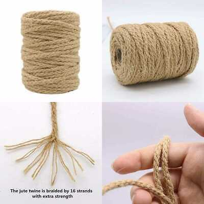 5Mm Jute Twine 100 Ft Braided Natural Rope For Artworks & Crafts Macrame Project