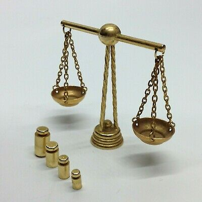 Vintage Miniature Balance Scales & Weights