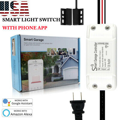 Smart Wifi Home Garage Door Opener Switch APP Remote Works Alexa Google Kit EU