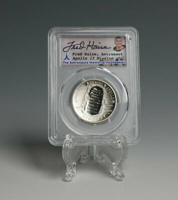 Apollo 11 Clad Half Dollar - 1st Day Launch -Signed by Fred Haise -PCGS PR69DCAM
