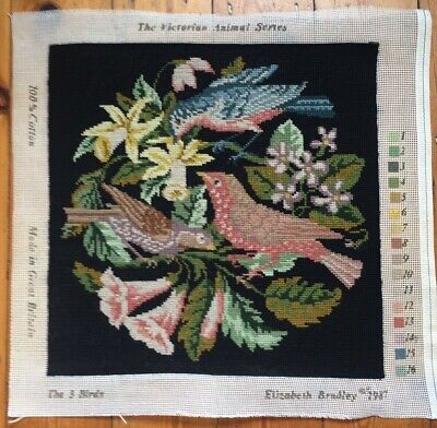 Completed Elizabeth Bradley Tapestry. 'The Three Birds' Perfect condition