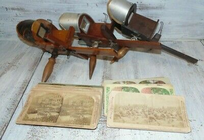 Lot of Antique Stereoscope Card Viewer & Misc. Cards