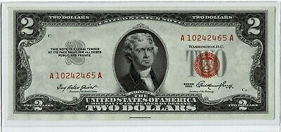 1953 $2 Dollar Bill United States Note Red Seal ~~Unc