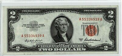 1953A $2 Dollar Bill United States Note Red Seal ~~Unc