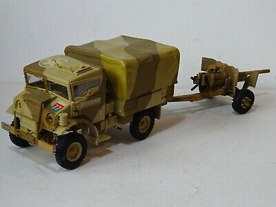 Airfix 1/35 Assembled Model Kit - Chevrolet 15-Cwt Truck And 6 Pounder Gun