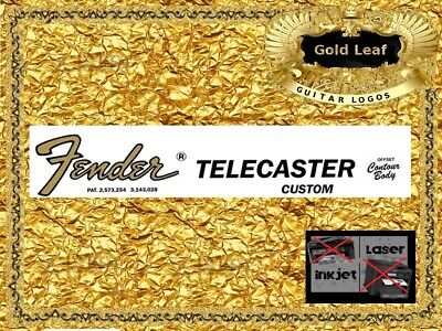 Fender Telecaster Guitar Decal Headstock Decal Restoration Waterslide Logo 8g