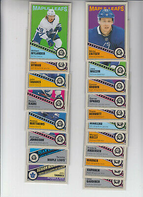 19/20 OPC Toronto Maple Leafs Retro Team Set with Inserts - Matthews Marner +